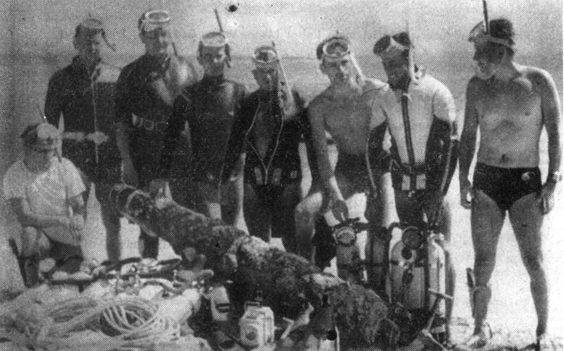 Gruppe des Deutschen Unterwasser-Clubs Nürnberg (DUC) in Sardinien.