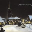 Weihnachtsbeleuchtung am Schwabacher Marktplatz um 1950