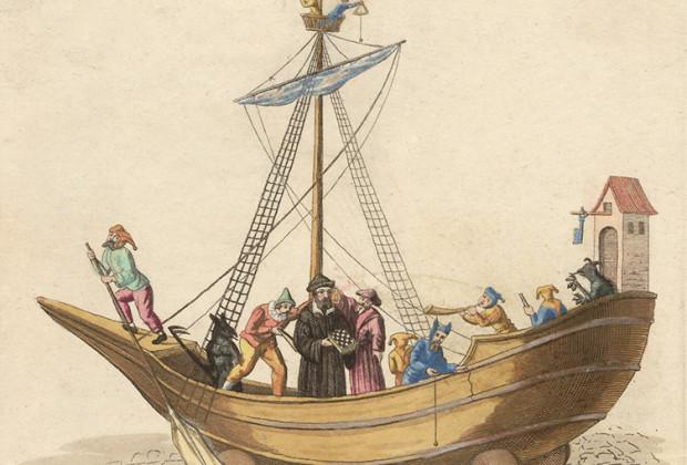 Hölle des Schembartlaufs 1539 mit Verspottung Andreas Osianders