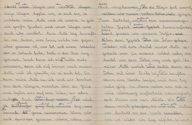 Schulaufsatz von 1943, Teil 2 (Stadtarchiv Nürnberg E 10/1 Nr. 32)