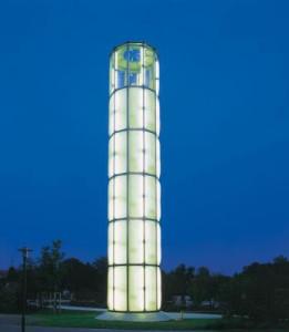 Der Vesunaturm direkt neben dem JUZ Klärwerk