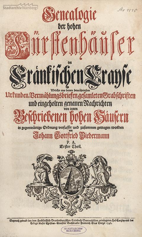 Genealogie der hohen Fürtsenhäuser im Fränkischen Crayse. Erster Theil