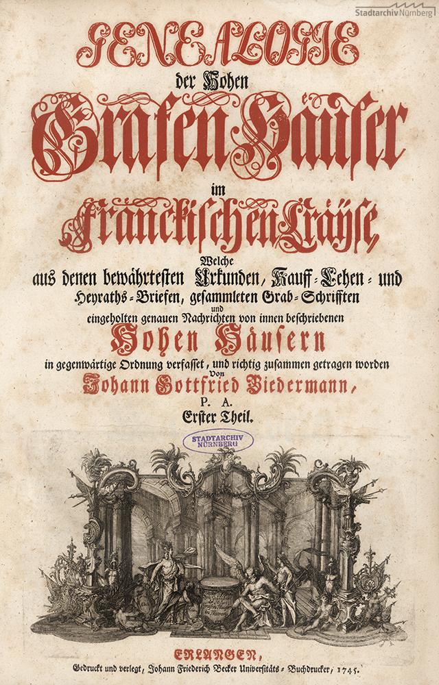 Genealogie der Hohan Grafenhäuser im Fränckischen Cräyse. Erster Theil