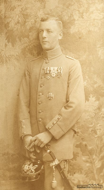 Foto von Ludwig Ritter von Rudolph in Uniform, August 1917