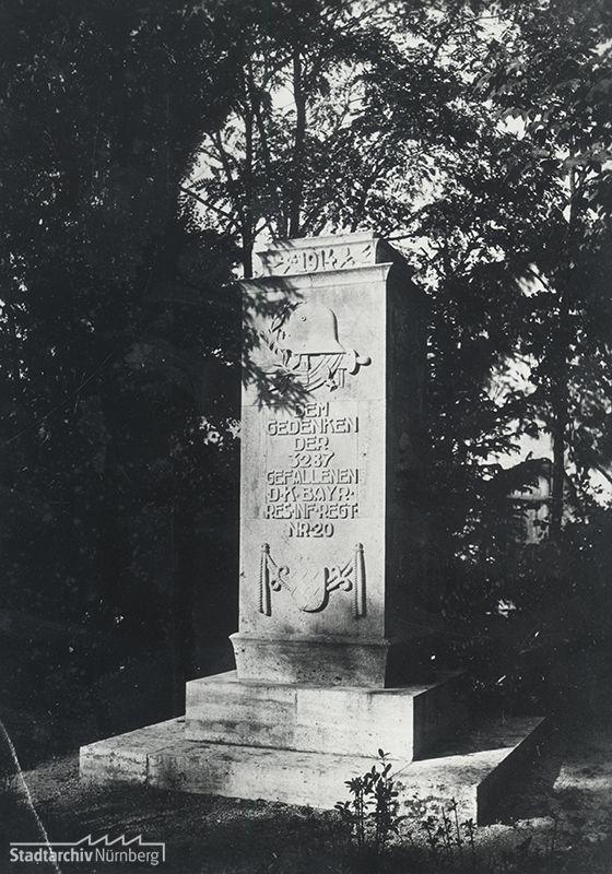 Kriegerdenkmal für die Gefallenen des 20. Bayerischen Reserve Infanterie Regiments