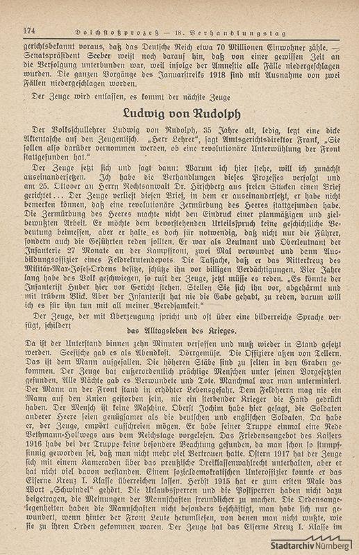 """Buch """"Der Dolchstoßprozeß"""", München 1925"""