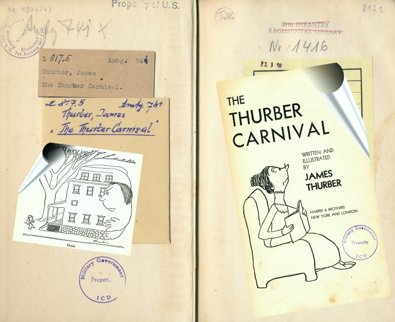 "Exemplar von ""The Thurber Carnival"" (1945) im Bestand E 6/799"