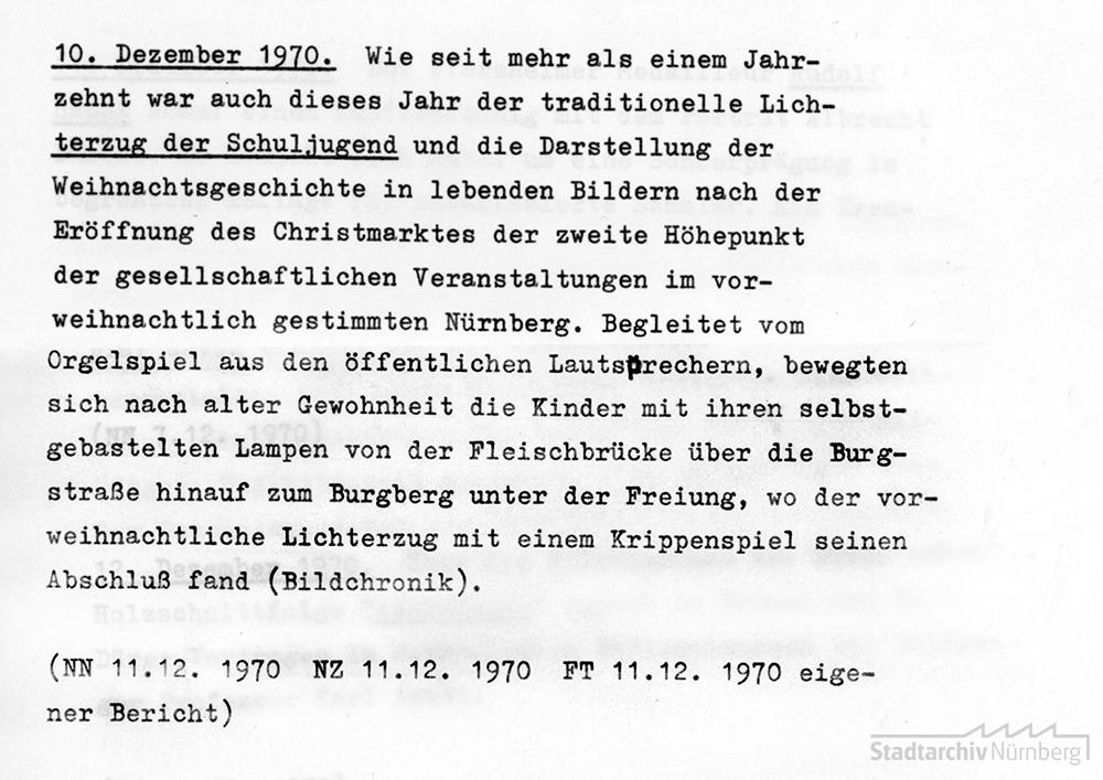 Stadtchronik Nuernberg, Dezember 1970