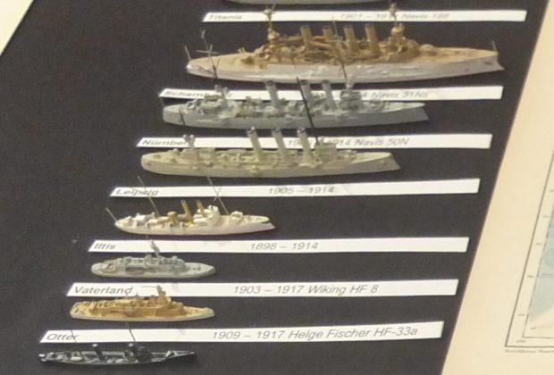 S 90, Otter, Vaterland, Iltis, Leipzig, Nürnberg, Scharnhorst und Titania, einige Schiffe des Ostasiatischen Geschwaders 1914