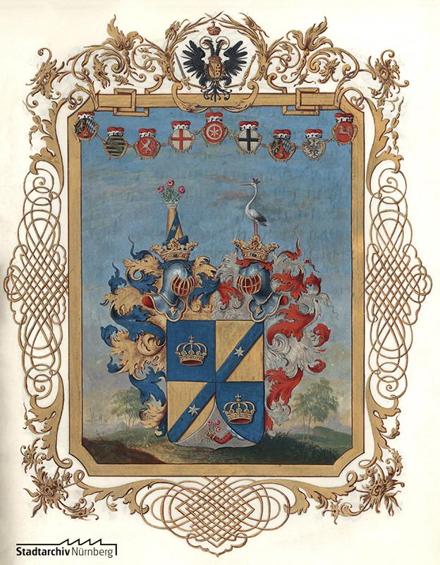 Adelsdiplom der König von Königsthal. Wien 1759 März 19 (Stadtarchiv Nürnberg E 15 Nr. 67).