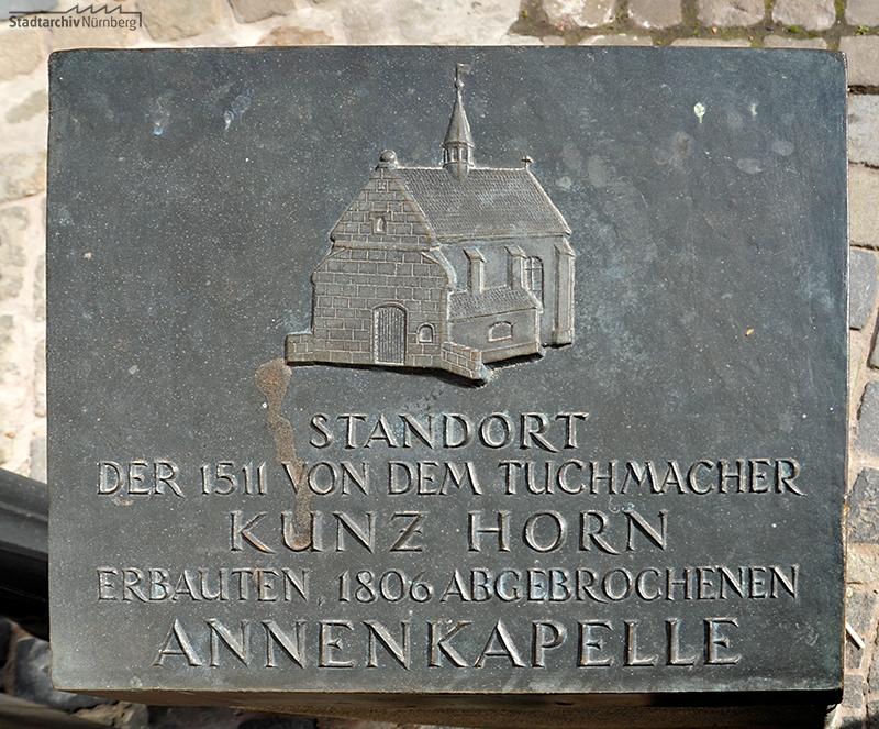 Gedenktafel an die Annenkapelle