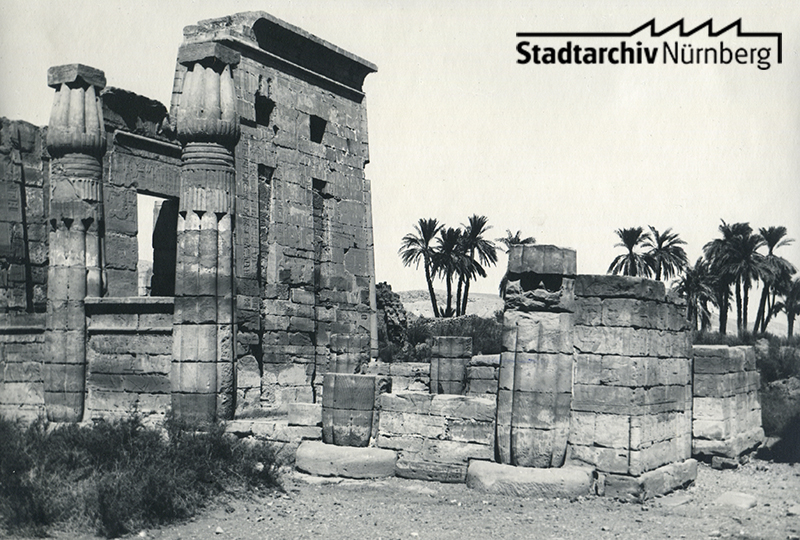 Medînet Hâbu, Luxor. Oktober 1925. (Leila Makarius, Buenos Aires/Argentinien)
