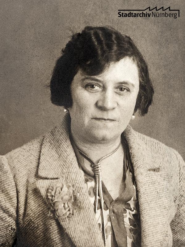 Paula Cohn. Foto, um 1925. (Stadtarchiv Nürnberg C 21/VII Nr. 22)