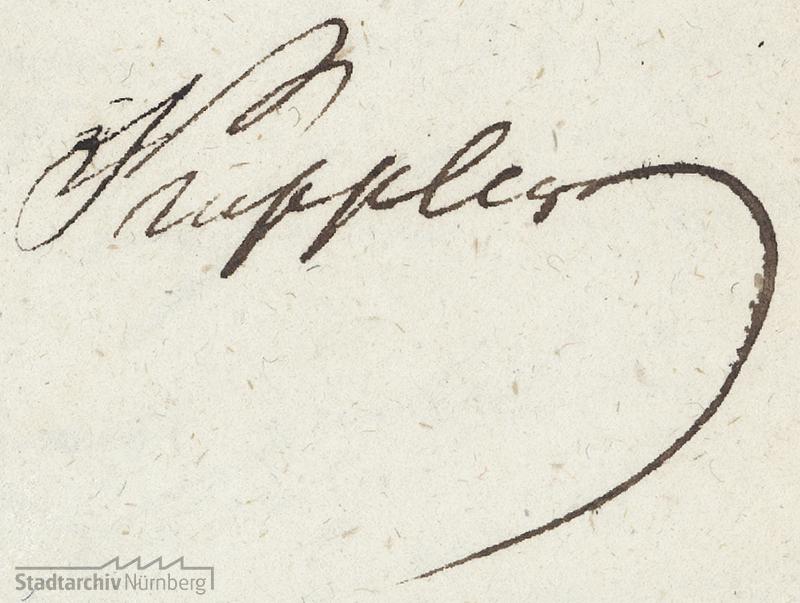 Unterschrift Konrad Georg Kupplers
