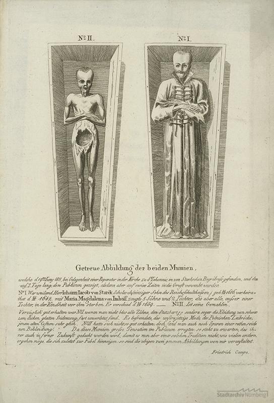 Stark`sche Mumien auf dem Johannisfriedhof.
