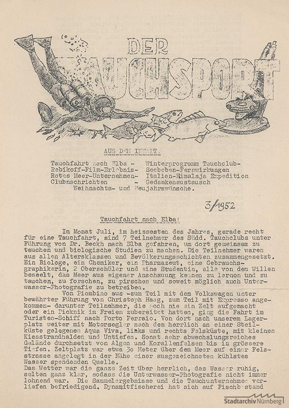 """Zeitung """"Der Tauschsport"""" Nr. 3/1952"""