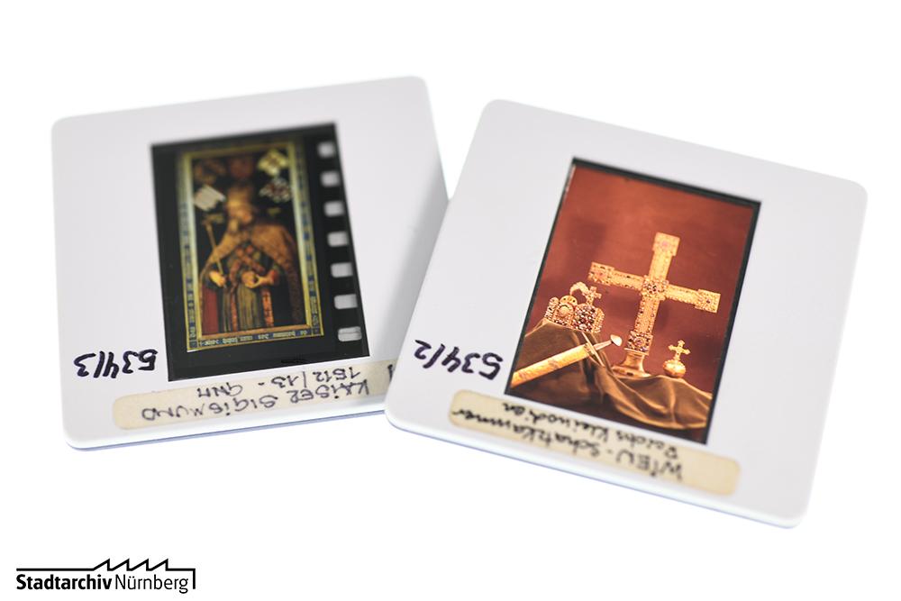 Zwei undatierte Diapositive aus dem Nachlass von Georg Stolz