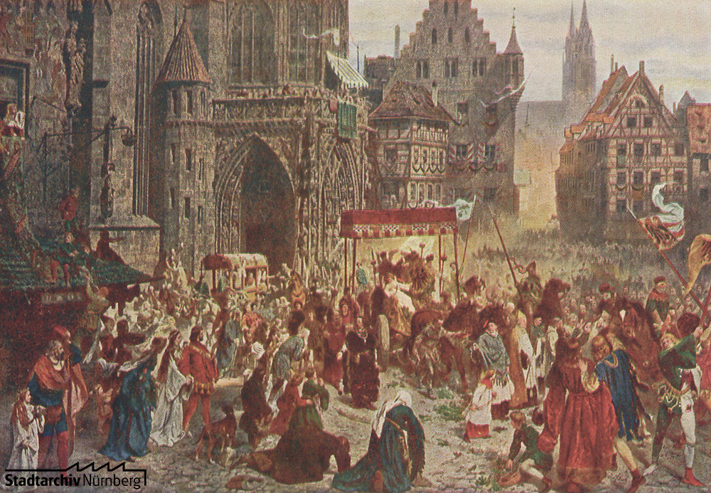 Einbringung der Reichskleinodien im Jahre 1424