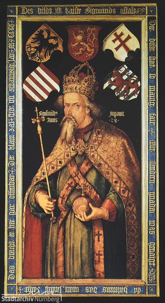 Ölgemälde Kaiser Sigismunds von Albrecht Dürer im Germanischen Nationalmuseum