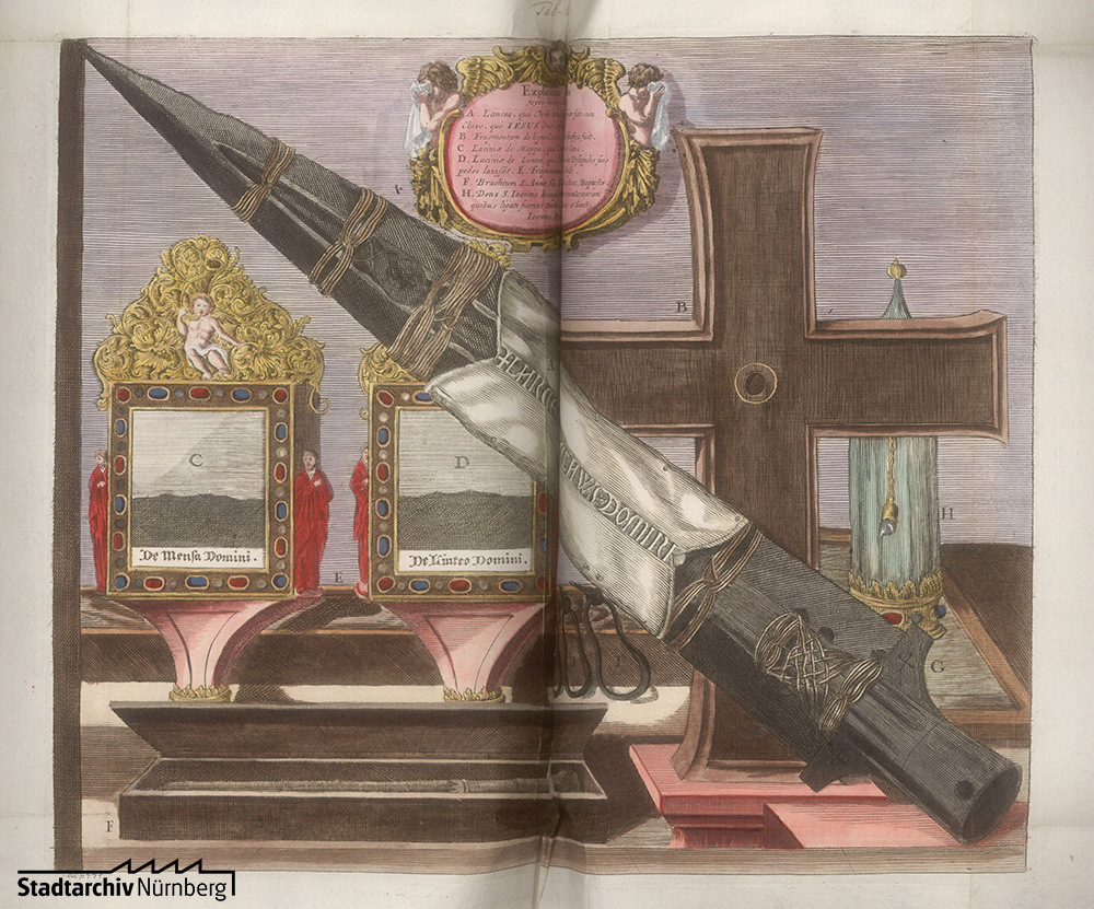 Abbildung der Reichskleinodien in einer Chronik über Anfang, Ursprung und Herkommen der kaiserlichen Reichsstadt Nürnberg bis 1572