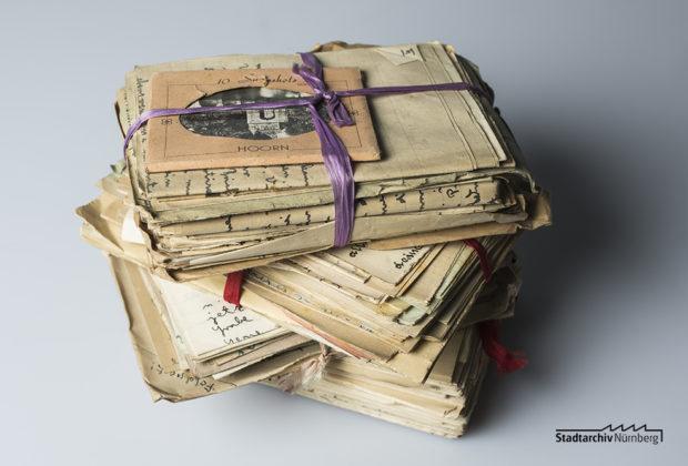 Persönliche Briefe von Curt Heigl vor der Bearbeitung durch das Stadtarchiv (Stadtarchiv Nürnberg E 10/164 Nr. 2)