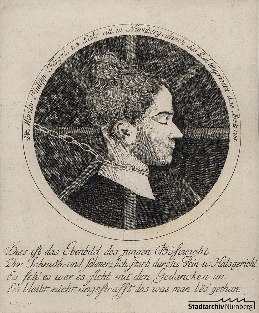 Flugblatt zur Hinrichtung Johann Philipp Feigels