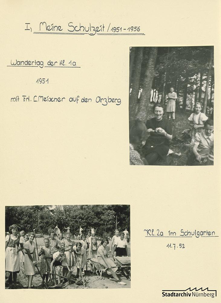 Schulgarten, 1952