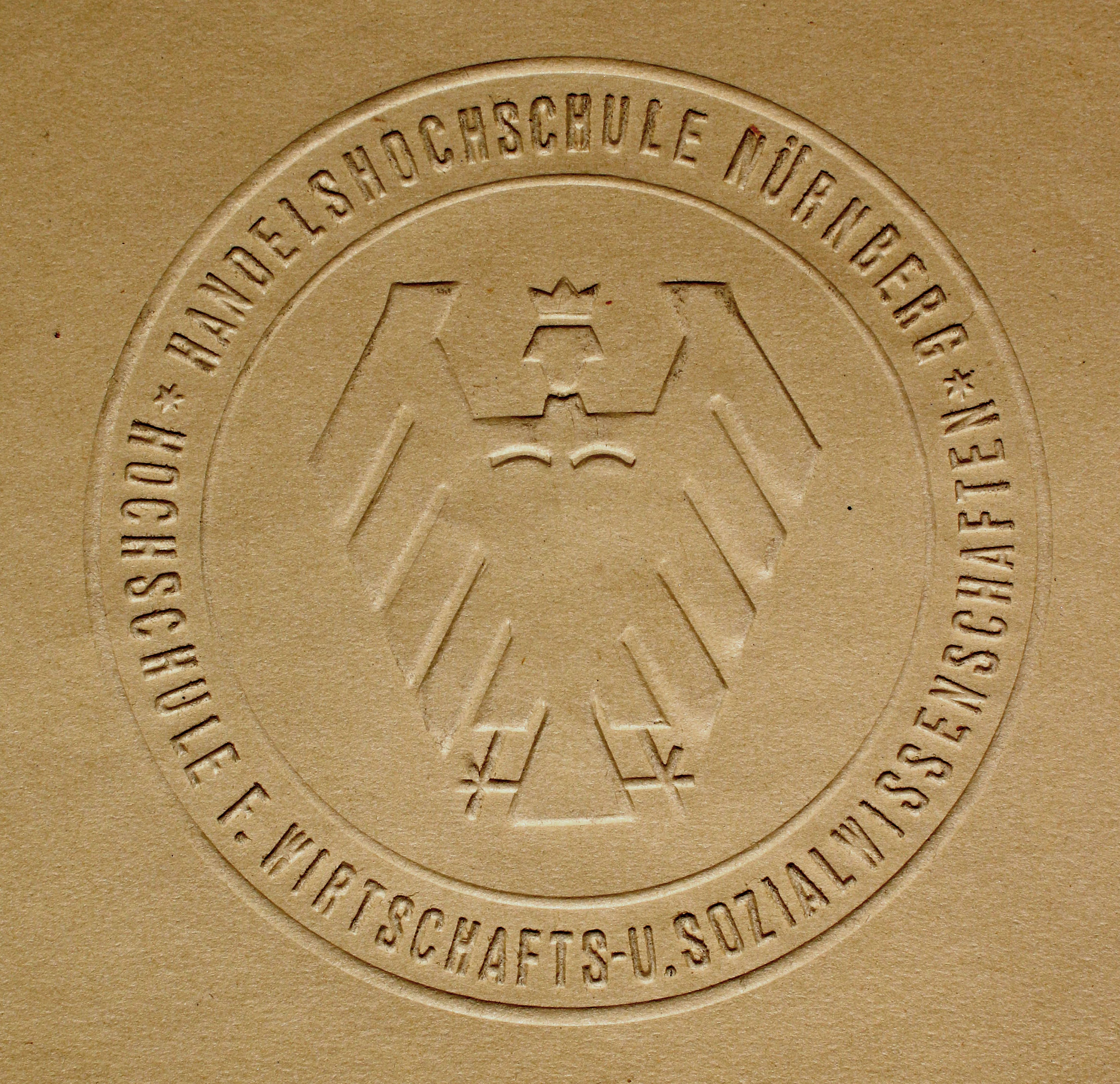 Das Siegel der Hochschule in der graphisch modern gehaltenen Fassung von 1925